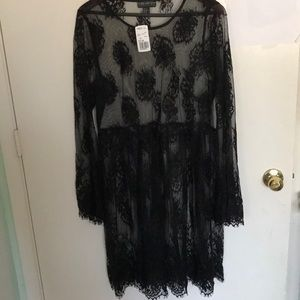 Black Lace Sheer Dress